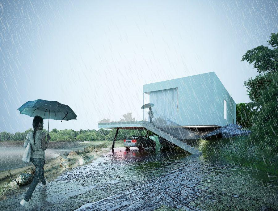 Modern Individual Residential Lake House