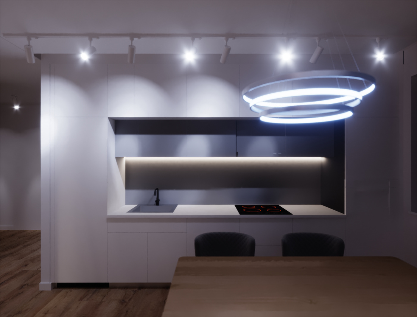 Apartment Interior Kitchenroom