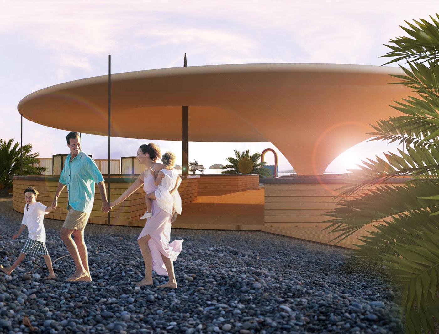 The Concept of Beach Resort in Batumi