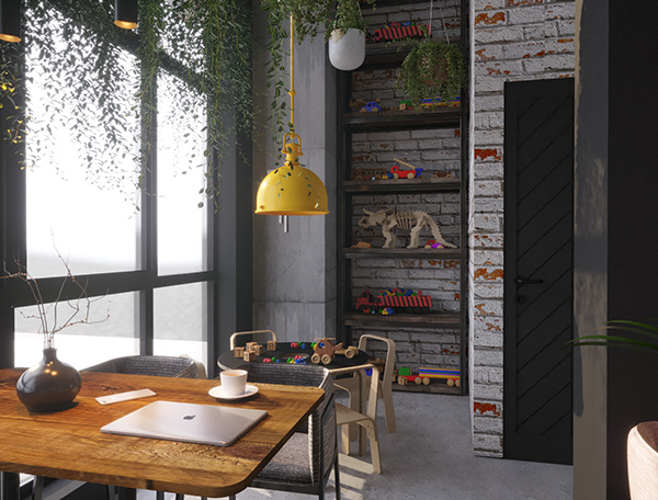 Coffee shop design kids space