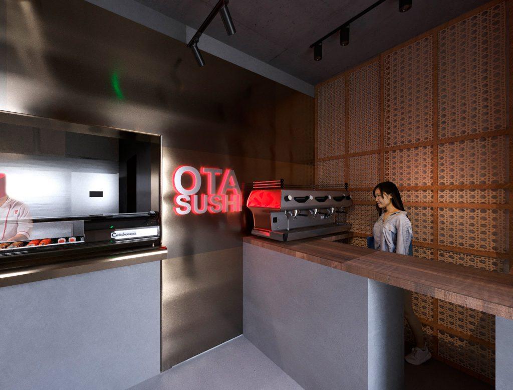 Japanese bar design ideas sushi