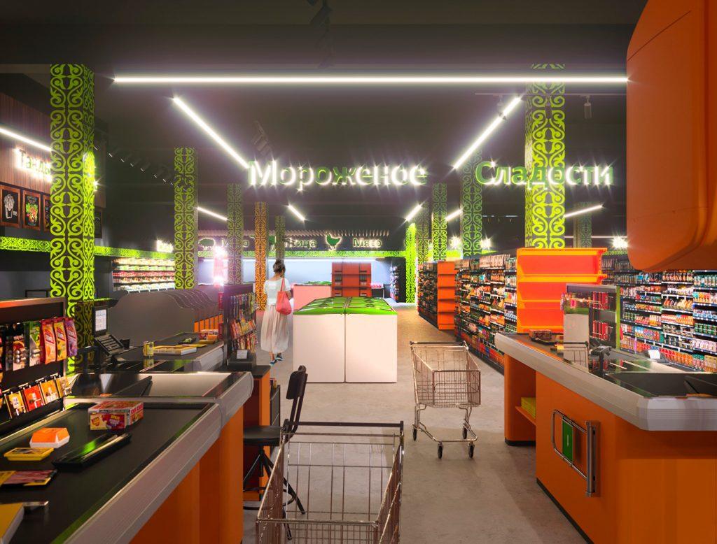 Supermarket chains Vkusnaya Korzinka